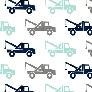 tow trucks - multi - grey/aqua/navy