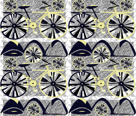 climb every mountain fabric by abstracthands on Spoonflower - custom fabric