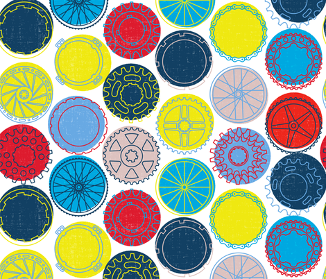 RAD     bike parts fabric by ghouk on Spoonflower - custom fabric