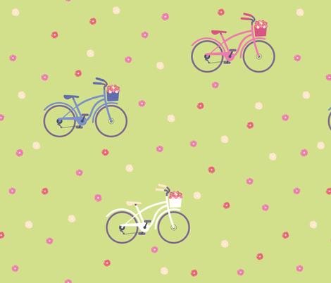 cyclinghappyflowers fabric by kasumi_design on Spoonflower - custom fabric