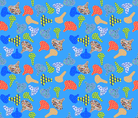 Colorful Cycling Seats fabric by ruthjohanna on Spoonflower - custom fabric