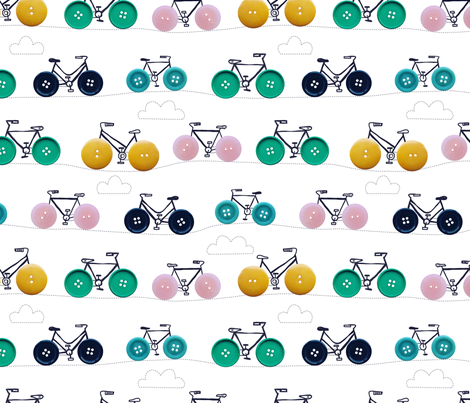 button bikes 2 fabric by laura_may_designs on Spoonflower - custom fabric