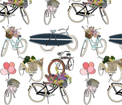 Loving Life On A Bike fabric by jenniejoyce on Spoonflower - custom fabric