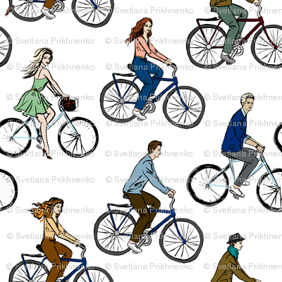 Young People on Bicycles