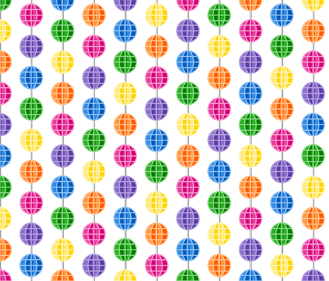 Retro Rainbow Spoke Beads fabric by inscribed_here on Spoonflower - custom fabric