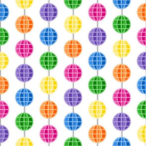 Retro Rainbow Spoke Beads