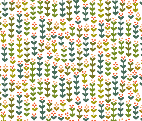 Jungle Flowers fabric by studio_amelie on Spoonflower - custom fabric