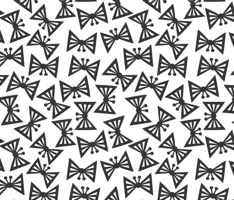 Gray & White Butterflies fabric by christinewitte on Spoonflower - custom fabric