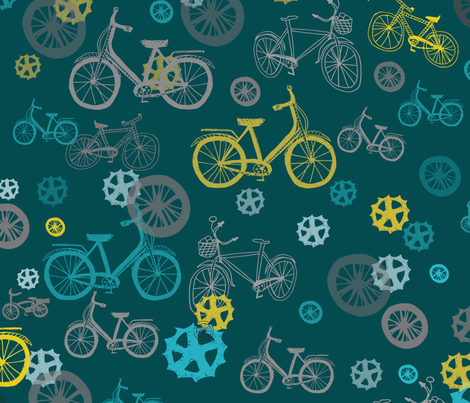 BicyclesColour fabric by maredesigns on Spoonflower - custom fabric