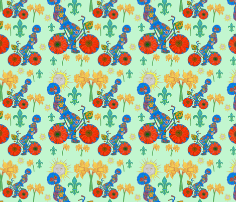 Rêve Bohème du Vélo fabric by iadesigns on Spoonflower - custom fabric