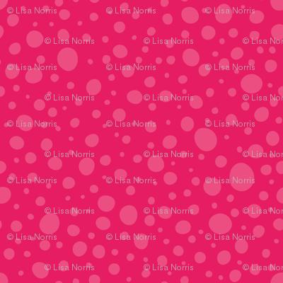 Bright Pink Wonky Dots