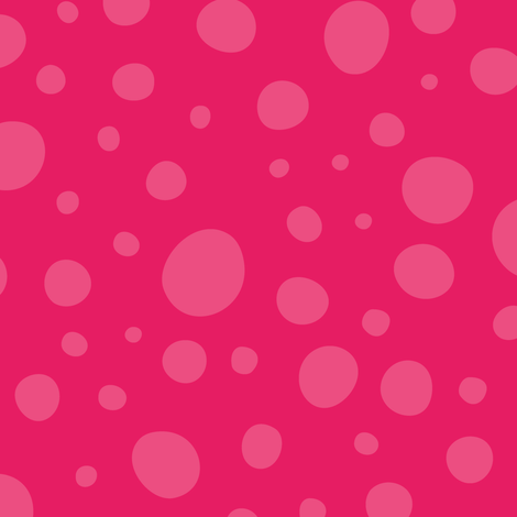 Bright Pink Wonky Dots fabric by lisanorrisartworks on Spoonflower - custom fabric