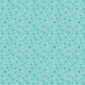 Soft Blue Green Stars