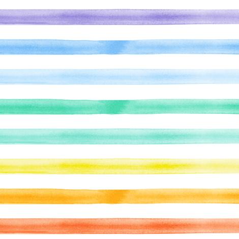 watercolor stripes - rainbow  fabric by littlearrowdesign on Spoonflower - custom fabric