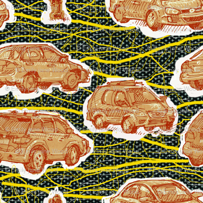 Hamtramck Wax Print Cars
