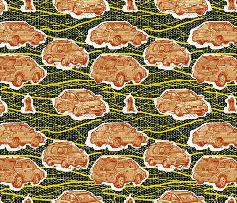Hamtramck Wax Print Cars fabric by emilyjanewood on Spoonflower - custom fabric