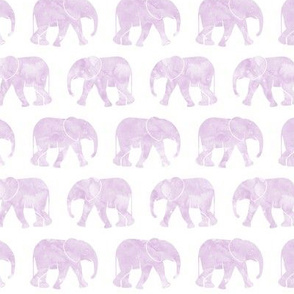 baby elephants - purple