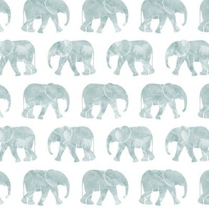baby elephants - dusty blue