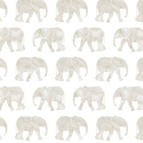 baby elephants - beige