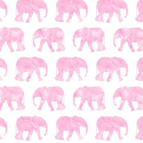 baby elephants - bubble gum pink