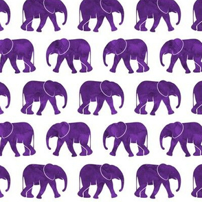 baby elephants - dark purple