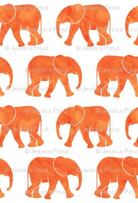 baby elephants - orange