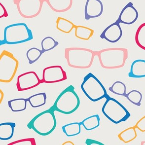 Colorful Glasses on White
