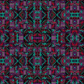 Mosaic in Teal