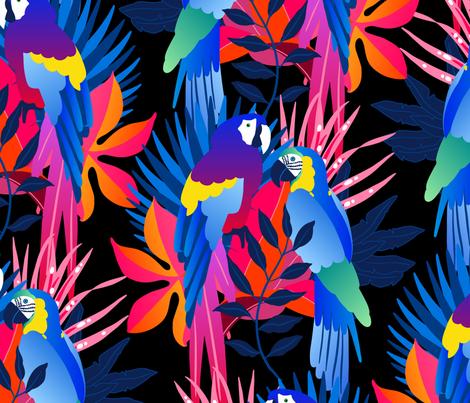 Parrots fabric by edinavarga on Spoonflower - custom fabric