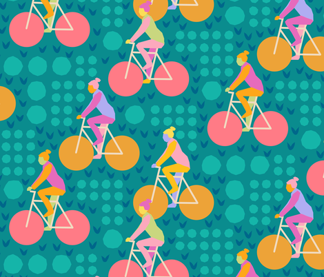 Bicycles By Circles fabric by byre_wilde on Spoonflower - custom fabric