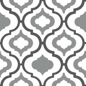 Moroccan Grey Tile - Medium