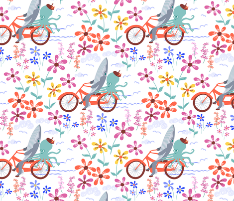 By the Sea fabric by lynnbishopdesign on Spoonflower - custom fabric
