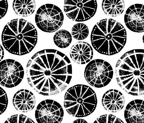 Fancy Wheels fabric by snowflower on Spoonflower - custom fabric