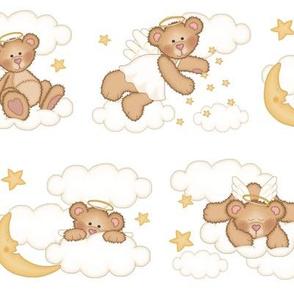 Angel Bear Moon Star Cloud Nursery Girl