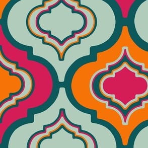Moroccan Colourful Quatrefoil Tile (Large)