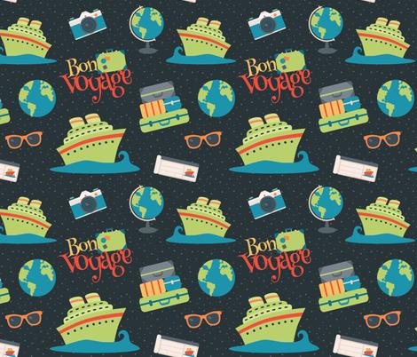 Bon Voyage Cruise Pattern fabric by lisanorrisartworks on Spoonflower - custom fabric
