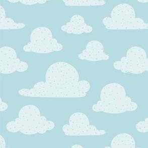 Light Blue Fluffy Clouds