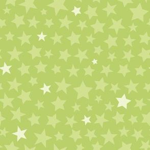 Green Scattered Stars
