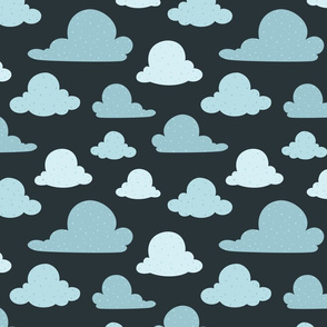 Navy Scattered Clouds