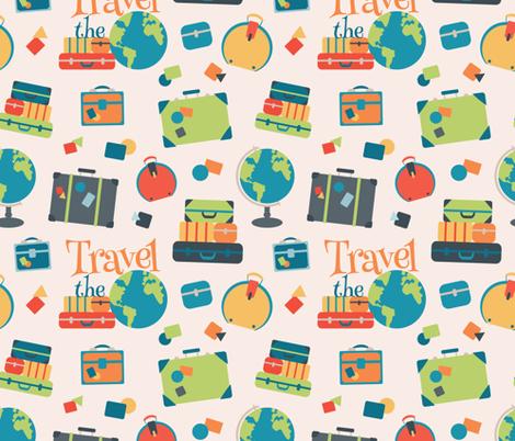 World Travel Luggage fabric by lisanorrisartworks on Spoonflower - custom fabric