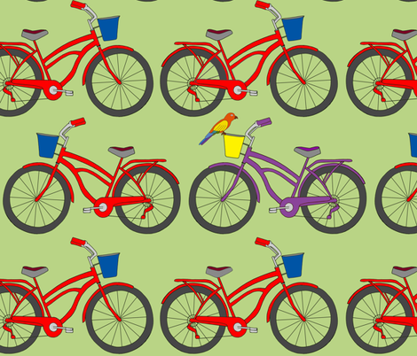 my purple bike fabric by fanciful_whimsy on Spoonflower - custom fabric
