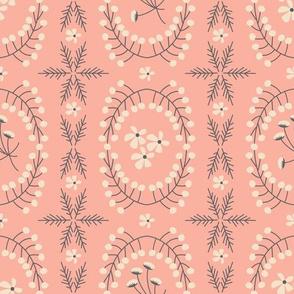 Meadowland medallions ~ plush blush