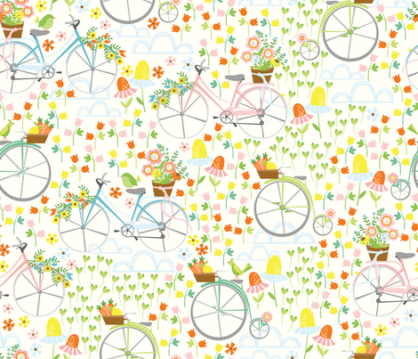 Spring Ride fabric by oliveandruby on Spoonflower - custom fabric
