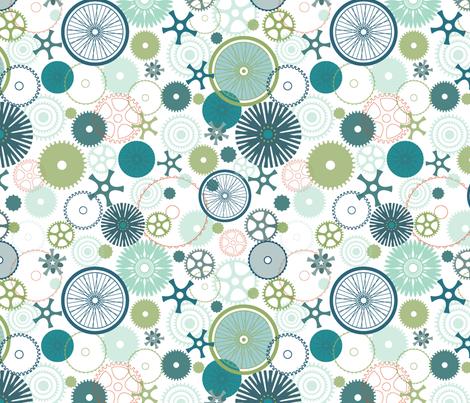 Bicycle Gears fabric by sanderella on Spoonflower - custom fabric