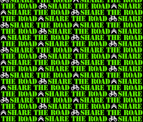 Share The Road fabric by elramsay on Spoonflower - custom fabric