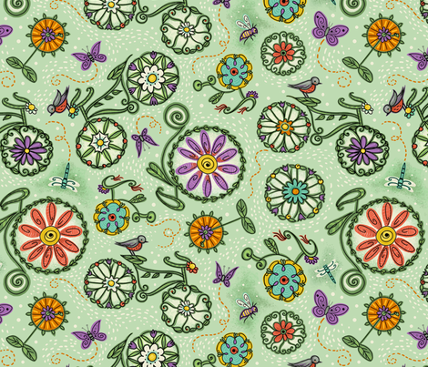 Cycles of Nature fabric by johannaparkerdesign on Spoonflower - custom fabric