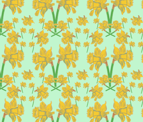 Les Jonquilles fabric by iadesigns on Spoonflower - custom fabric