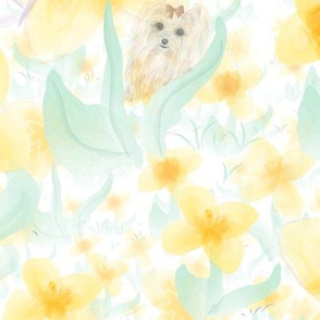 Daffodil water color - Puppy
