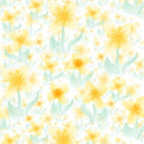 Daffodil watercolor