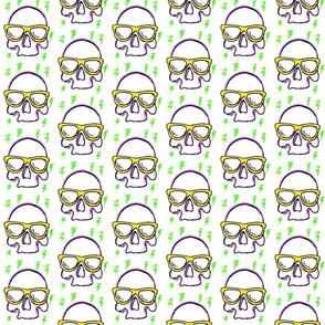Skull with Lightning
